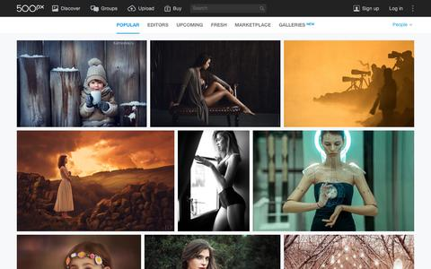 Screenshot of Team Page 500px.com - Most Popular People Photos on 500px Right Now - captured Dec. 7, 2015