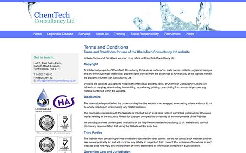 Screenshot of Terms Page chemtechconsultancy.co.uk - ChemTech Consultancy Ltd - Legal - Terms and Conditions - captured Oct. 2, 2014