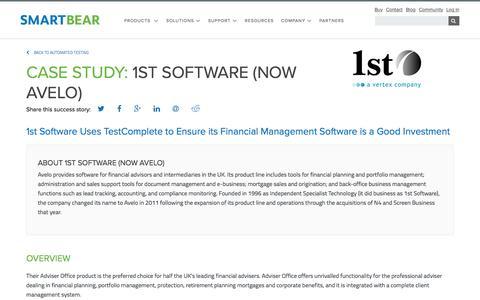 Screenshot of Case Studies Page smartbear.com - Case Study: 1st Software | SmartBear - captured May 19, 2017