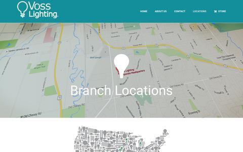Screenshot of Locations Page vosslighting.com - Locations � Voss Lighting - captured Jan. 12, 2016