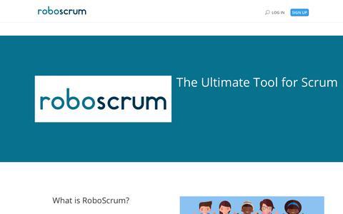 Screenshot of Home Page roboscrum.com - RoboScrum Online | Now on beta - captured July 8, 2018