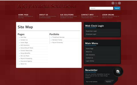 Screenshot of Site Map Page ajgpayroll.com - Site Map | - captured Oct. 4, 2014