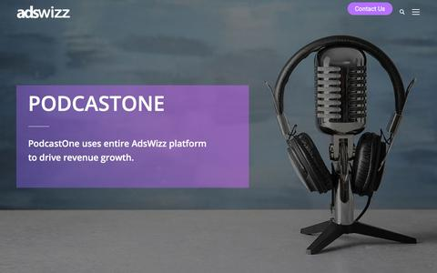 Screenshot of Case Studies Page adswizz.com - PodcastOne Case Study - Adswizz - captured Aug. 7, 2019