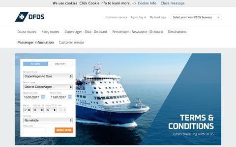 Screenshot of Terms Page dfdsseaways.com - Passenger informations - captured Jan. 9, 2017