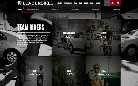 Screenshot of Team Page leaderbikes.com - Team Riders | Leader Bikes - captured Oct. 2, 2014