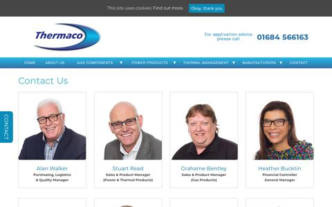 Screenshot of Contact Page thermaco.co.uk - Contact Us - Thermaco - captured Oct. 20, 2018