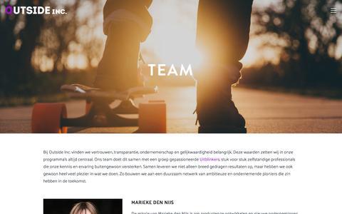 Screenshot of Team Page outside-inc.nl - Team — Outside Inc. - captured Sept. 21, 2018