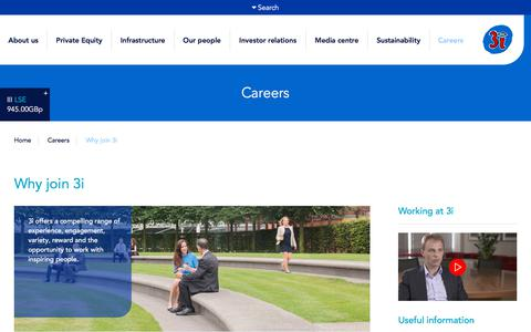 Screenshot of Jobs Page 3i.com - Why join 3i |                  Careers |              3i Group - captured Sept. 19, 2018