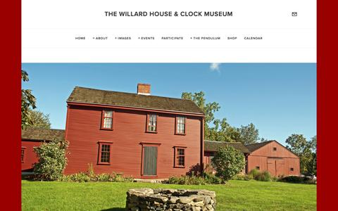 Screenshot of Contact Page willardhouse.org - Plan Your Visit — The Willard House & Clock Museum - captured Nov. 16, 2017