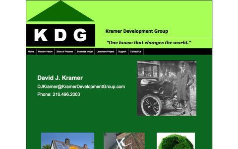 Screenshot of Contact Page kdg.us.com - Kramer Development Group Contact Information - captured Oct. 6, 2014