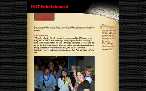 Screenshot of Services Page hgtentertainment.com - HGT Entertainment - HGT Entertainment - captured Sept. 26, 2014