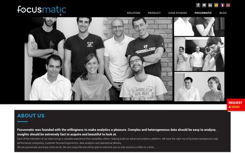 Screenshot of Press Page focusmatic.com - Focusmatic     Our team - captured Sept. 30, 2014