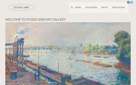 Screenshot of Home Page studio2000.nl - Kunsthandel & Art Gallery Studio 2000 - captured Oct. 16, 2018