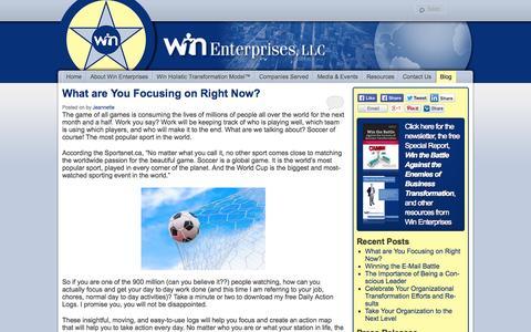 Screenshot of Blog winenterprisesllc.com - Blog | Win Enterprises, LLC - captured Oct. 7, 2014