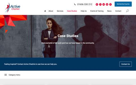Screenshot of Case Studies Page activecheshire.org - Case Studies - Active Cheshire - captured Oct. 21, 2018