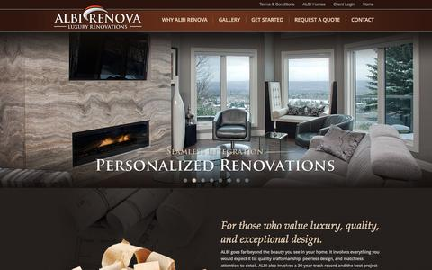 Screenshot of Home Page albirenova.com - ALBI RENOVA - Luxury Renovations in Calgary - captured Sept. 30, 2014
