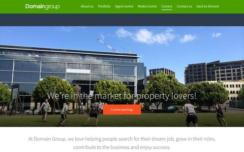 Screenshot of Jobs Page domain.com.au - Careers - Domain Group - captured Nov. 24, 2015