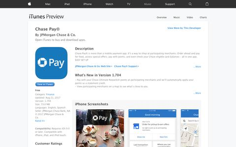 Chase Pay® on the App Store