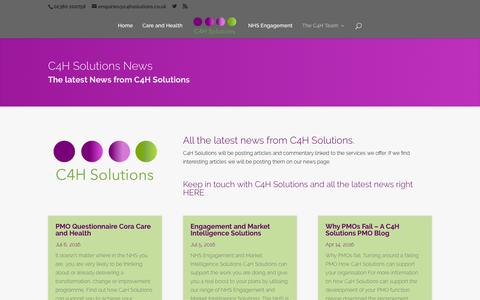 Screenshot of Press Page c4hsolutions.co.uk - News and views from C4H Solutions - C4H Solutions - captured July 9, 2016