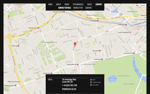 Screenshot of Contact Page interior-id.com - INTERIOR-iD | Contact details - captured Oct. 4, 2014