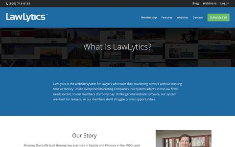 Screenshot of About Page lawlytics.com - About LawLytics - captured May 15, 2017