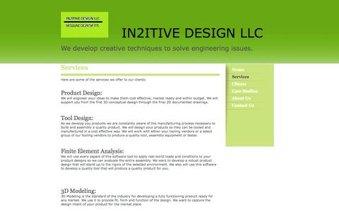 Screenshot of Services Page in2itivedesignllc.com - In2itive Design LLC - Services - captured Sept. 30, 2014