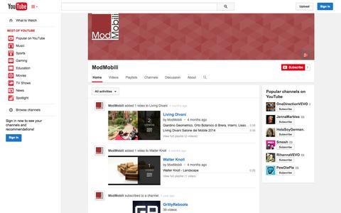 Screenshot of YouTube Page youtube.com - ModMobili  - YouTube - captured Oct. 25, 2014