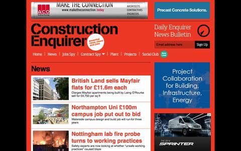Screenshot of Press Page constructionenquirer.com - News Ι   Construction Enquirer - captured Sept. 23, 2014