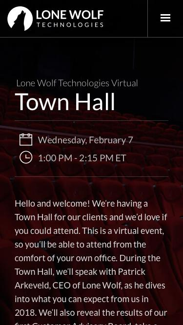Registration | Lone Wolf Town Hall