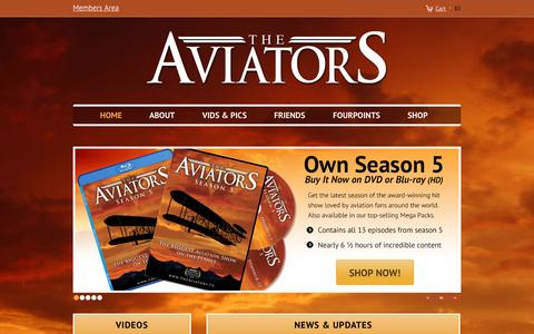 Screenshot of Home Page theaviators.tv - The Aviators TV - captured Jan. 30, 2015