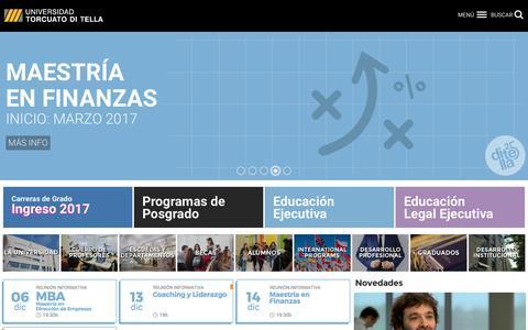 Screenshot of Home Page utdt.edu - Universidad Torcuato Di Tella - captured Dec. 4, 2016