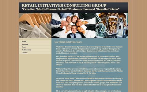 Screenshot of Team Page retailinitiatives.org - Retail Initiatives Consulting, B2B, Specializing Multi-channel, Stores, Websites, Healthcare, Government, Business to Business, Team - captured Oct. 9, 2014
