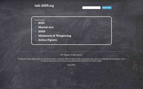 Screenshot of Home Page icsb-2009.org - icsb-2009.org - captured Feb. 21, 2018