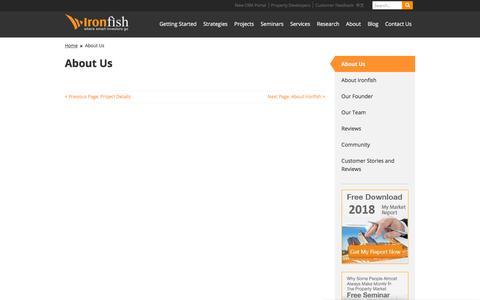 Screenshot of About Page ironfish.com.au - About Us - Ironfish - captured Aug. 15, 2019