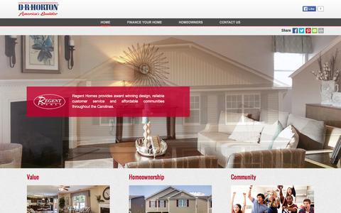 Screenshot of drhorton.com - Regent Homes | Family-Friendly Communities Across the Carolinas' - captured March 19, 2016