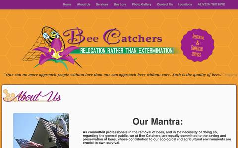 Screenshot of About Page beecatcherssocal.com - About Us – Bee Catchers - captured Feb. 7, 2016