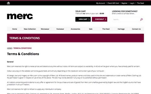 Screenshot of Terms Page merc.com - Terms & Conditions - captured Oct. 27, 2014