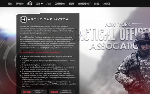Screenshot of About Page nytoa.org - NYTOA   About - captured Oct. 3, 2014