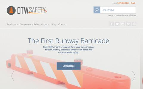 Screenshot of Home Page otwsafety.com - OTW Safety - captured Jan. 22, 2015
