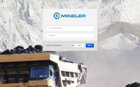 Screenshot of Login Page mineler.com - Mineler - captured Oct. 27, 2014