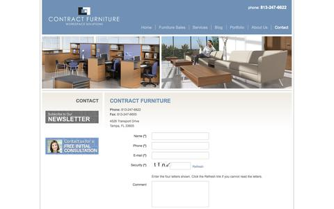 Screenshot of Contact Page contractfurniturefl.com - Contact | Contract Furniture - captured Oct. 3, 2014