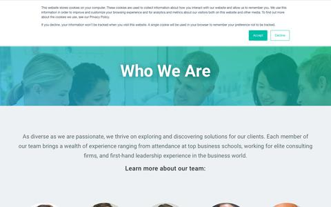 Screenshot of Team Page insight-experience.com - Who We Are | Insight Experience - captured Nov. 11, 2018