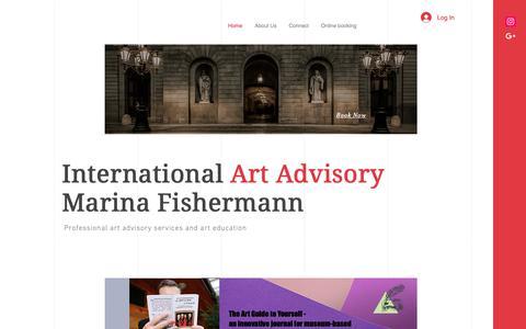 Screenshot of Home Page art-advisory.com - Milan Art Guide | Art Collection Advisory - captured Oct. 28, 2018
