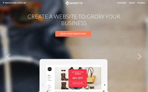 Screenshot of Home Page mobsyte.com - Create website   Home   Mobsyte - captured Oct. 1, 2015