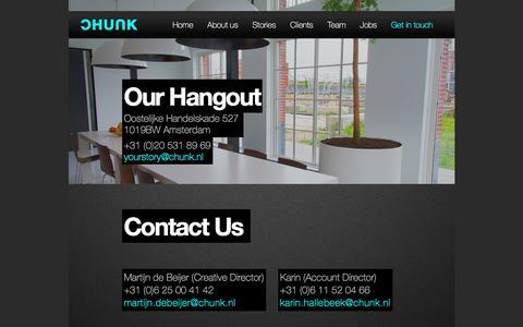 Screenshot of Contact Page chunk.nl - Chunk Đ Digital Agency - Contact - captured Dec. 6, 2015