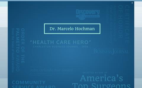 Screenshot of Home Page facialsurgerycenter.com - Facial Surgery Center in Charleston | Dr. Marcelo Hochman, Surgeon - captured Sept. 19, 2014