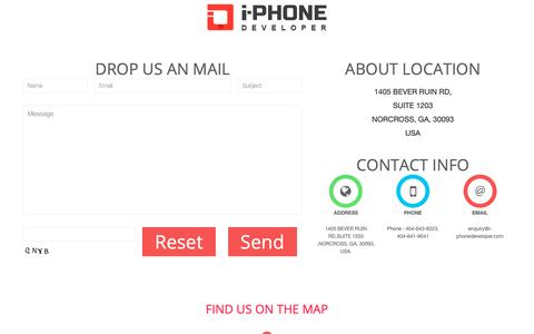 Screenshot of Contact Page i-phonedeveloper.com - App: Build and Create, Mobile Strategy, Design & Development - captured May 11, 2019
