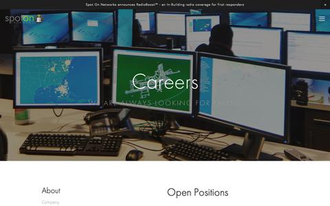 Screenshot of Jobs Page spotonnetworks.com - Careers — Spot On Networks - captured March 11, 2019