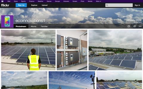 Screenshot of Flickr Page flickr.com - Flickr: ecoinnovations1's Photostream - captured Oct. 22, 2014
