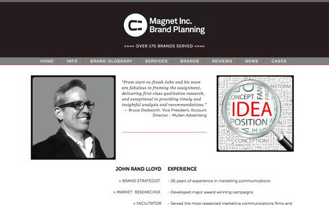 Screenshot of About Page magnetinc.net - About — Magnet, Inc. Brand Planning - captured Sept. 29, 2014